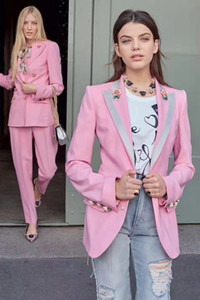 XXL 2020 무료 배송 가을 브랜드 같은 스타일의 코트 롱 SleeveLapel 목 버튼 패션 여성 의류 OULAIDI