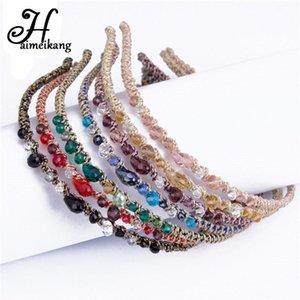 Clip fascia di cristallo Haimeikang Headwear strass Barrettes fascia per capelli per le donne ragazze forcine Accessori