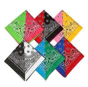 Heißer Verkaufs-Doppelt-Farben-Paisley Bandana Outdoor Radfahren Reiten Coton Kopfbedeckung Hip Hop Style Unisex Paisley Bandanas M011J
