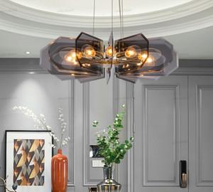 غرفة المعيشة LED إضاءة الثريا الحديثة الحد الأدنى الرئيسية كريستال مصابيح الضوء فاخر الأميركية غرفة الطعام غرفة نوم الثريا LLFA