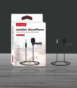 Clip-on Lavalier Microphone 3.5mm Mini Wired Condenser Mic yaka mikrofonu for Smartphones Laptop micro cravate
