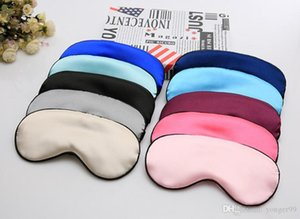 Newest Silk Sleep Rest Eye Mask Eye Shade Cover Padded Shade Cover Double Sides Sleeping Eye Mask with Single Pack for Party Favor
