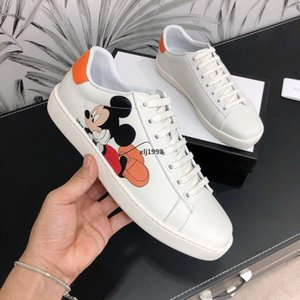 designer 2019 New shoes ACE Sneakers embroidered white  designer tiger bee Brand shoes Genuine Leather Mens Sneake Casual Sho