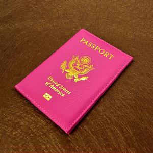 Fashion Travel Cute USA Passport Cover Women Pink USA Passport Holder American 9 Colors Covers for Passports Girls Case Passport Wallet