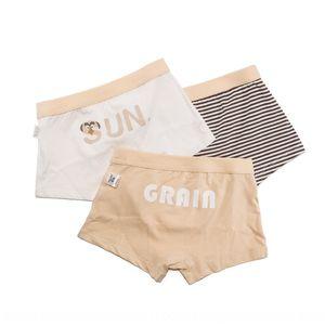 Summer thin children's underpants underpants underwear men's underwear cotton boxer shorts big and small children 3 boxes