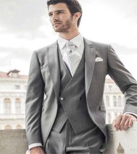 Classic Peak Lapel tuxedos groom wedding men suits mens wedding suits tuxedo costumes de pour hommes men(Jacket+Pants+Tie+Vest) W124