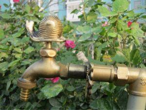 Décoratif jardin forme animal rural robinet extérieur Bibcock avec bronze antique escargot robinet pour machine à laver N5qI #