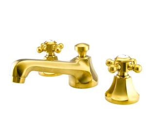 광범위한 골동품 세 개의 구멍 황동 무료 크롬 광택 수도꼭지 욕실 액세서리 분지 METROPOLITAN widspread 욕실 수도꼭지를 콘센트 주도