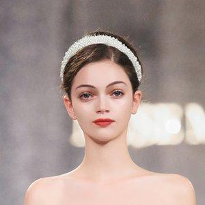 Joyería de moda diseñador de las mujeres de la venda de la boda accesorios nupciales del pelo de lujo encantos de la perla de las vendas Head Girl Band bastante con estilo Hairband