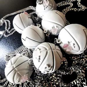 농구 펜던트 로고 목걸이 패션 간단한 남성과 여성의 편지 보석 목걸이 수지 다니엘 아샴 디자인 보석