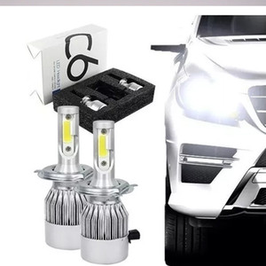 Nuovo 1Pair C6 faro dell'automobile 12V 7600LM H3 880 9005 9006 9004 9007 H13 Car Lights 6000k H4 H7 9003 H11 LED H1