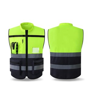 Running Cycling Outer Wear Multi Pocket Safety High Brightness Reflective Vest High Visibility Gear Tank Top Construction Site
