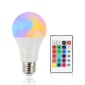 디 밍이 가능한 LED 전구 10W E27 LED 전구 하이트 밝기 980LM 화이트 RGB 전구 원격 제어와 220 (270) 각도