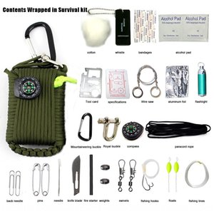 Outdoor Kit woven bag portable quick hanging key chain umbrella rope woven bag multi-function tool kit outdoor supplies