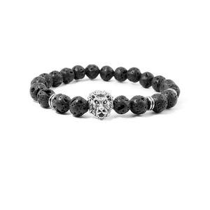 Naturali Lava Rock Bracciali in pietra 8mm Beads Chakra energia nera Yoga ps1331 Bracciale Reiki Buddha fili Bracciale Mala Bracciali