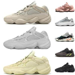 Adidas Yeezy Sply Boost Shoes2020 كاني الملح 500 أحذية 700 الجيود النساء الرجال تشغيل الحذاء الأسود الوردي أمعاء الصورة أسود أبيض فاخر مصمم أحذية رياضية في الهواء الطلق والرياضة