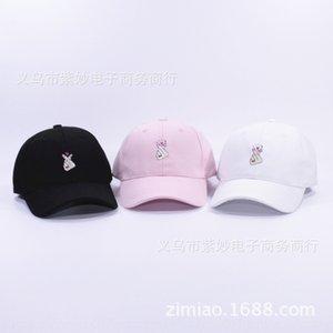 Marea marca gorra de béisbol gorra de béisbol de color amarillo beso de Zhili Harajuku ulzzang encaje funda de dedo curvado aleros hombres y mujeres