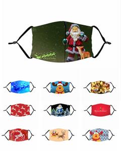 Partido de la máscara para adultos niños Diversión Fantasía de Navidad Cara boca de mufla Máscara reutilizable polvo caliente a prueba de viento Algodón máscara negro