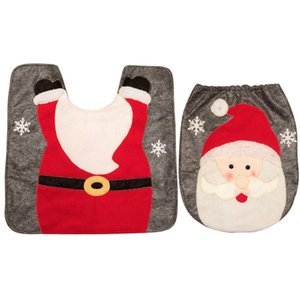 2pcs Christmas toiletdecorations for home seat navidad 2018 decor navidad decoraciones para el hogar envio gratis cover