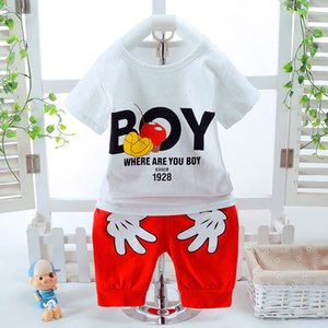 Baby Boys Clothing Sets Summer Cotton Cartoon Short Sleeve Kids Clothes Casual Shirt And Short Pants Boys Suit For 1-4 Years Old