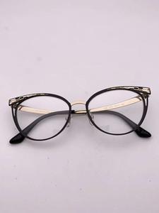 خفيفة الوزن كيارا نموذج تصميم الأزياء BV2186 معدنية أنيقة نظارات cateye إطار للنساء 53-17-140 للوصفة طبية نظارات حالة fullset