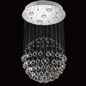 Modern LED K9 Ball Crystal Chandeliers glass ball chandelier light modern pendant light Chandelier Clear Ball Ceiling Light