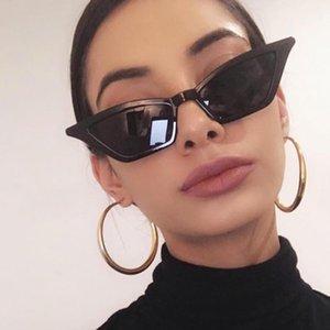 2020 New Women Cat Eye Vintage Red Sunglasses Brand Designer Retro Points Sun Glasses Female Lady Eyeglass