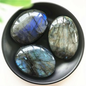 Natural Irregular Labradorite Palm Stone Polished Therapy Quartz Crystal Healing Natural Stones and Minerals