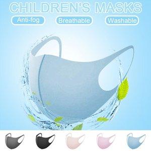 5PCS fumetto solido Colore bambini antinquinamento Carino Bocca antipolvere Maschere