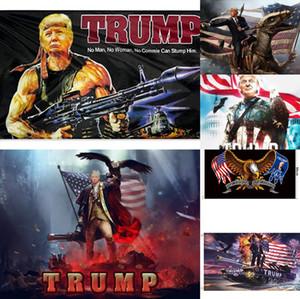 6 Styles Decor Banner Trump Battle Flag Hanging 90*150cm America Again for President USA Donald Trump Election Banner 2020 Flag Donald Flag