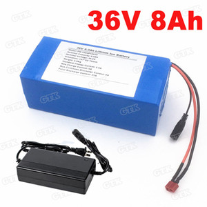Brand lithium 36v 8ah battery pack 8000mAh with BMS for 360w 500w electric skateboard +2A Charger