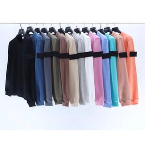 أزياء خريف / شتاء طويل الأكمام هوديس عشاق نمط جولة الرقبة البلوز التطريز شارة ICON ضروري # UT604 البلوز القميص