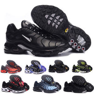 Discount Hight Quality Sports Casual Shoes New TN Men Black White Red Mens Breathable Runner Sneakers Man Trainers Tennis Shoes KY6LM