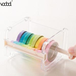 VODOOL Beige Color Japanese Stationery Masking Tape Cutter Washi Tape Storage Organizer Cutter Office Dispenser Supplies N9TC#