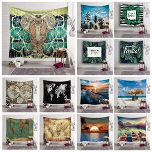 100 Styles 150*130cm Tapestry Bohemian Mandala Wall Hanging Elephant Beach Towel Shawl Yoga Mat Polyester Tapestry Home Decor CCA11523 30pcs