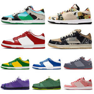 nike sb dunk low Großhandel Dunk Low Top Art und Weise Frauen Herren Laufschuhe Chunky Dunky Paris Universität Red Cactus Jack Designer Dunks Skate Trainer Turnschuhe