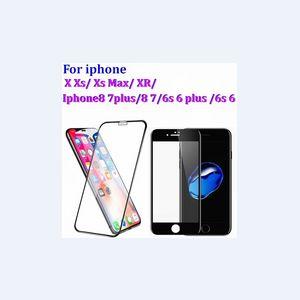Tela Protector para iPhone11 XS XR X 8, 7, 6plus, 6 (4,7 polegadas) de vidro temperado tela Protector