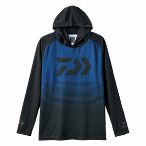 Summer Fishing Hooded Clothing Quick-dry Ice-cool Zipper Sun Protection Long-sleeve Hiking Hooded Fishing Shirts R1MF#