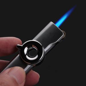 미니 액세서리 가제트 남성용 흡연 화염 가스 라이터 토치 터보 라이터 금속 라이터 시가 라이터를 고정