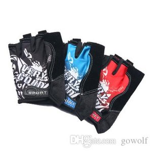 DHL 50PCS Cycling Gloves Road Bike Gloves Men Breathable Sports Half Finger Anti Slip Bicycle MTB Road Bike Gloves Equipment 4 Colors
