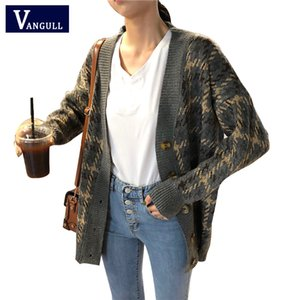 Elegant Houndstooth Autumn Winter Sweater Cardigan Women Single Breasted Knitted Sweater Casual Color Block Cardigan 2020 New