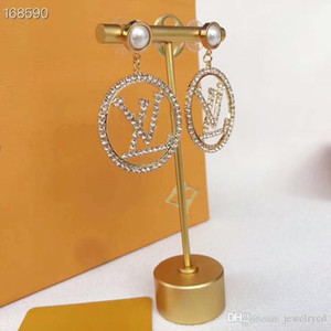 New European and American retro round diamond earrings simple hollow out small ring earrings han version