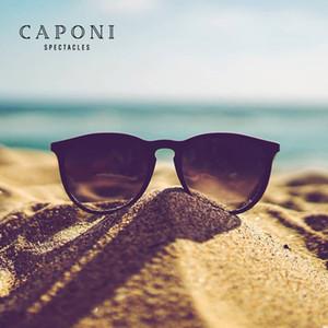 CAPONI Frauen polarisierte Sonnenbrille Brillengläser Light Weight Sonnenbrillen für Männer Mode Oval Stil UnisexEyewear BS3102