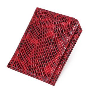 ABER Mode Rfid Anti-Diebstahl-Kreditkartenhalter 2020 New Serpentine echtes Leder-Karten-Mappen-Multi-Card Position Purse