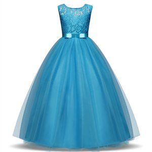 Children Princess Costume For Girl Party Wear Kids Evening Prom Gown Designs Teenage Girl Formal Communion Dress 5 8 10 12 14T
