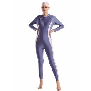 Islamic Swimwear Muslim One-Piece Suits Swimsuit Beach Swim Surf Wear Sport Full Suit for Diving Suit Wetsuit Women