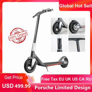 Por-sche Design APP Control Electric Folding Scooter Fashion LED Display Electric Bcycle 10 Inch Wheel 300W Waterproof IP45 Ebike