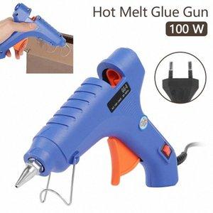 100W High Temp Подогреватель Hot Melt Glue Gun Прививка Repair Tool Heat Gun Electric Heat нагрев инструмент Промышленной Мини Guns ЕС Plug Уммы #