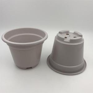 D10.5XH8CM Mini Nursery Pots White Plastic Pots Succulents Pots Small round flower planters