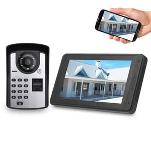 Impronte digitali password applicazione Remote Video controllo da 7 pollici monitor senza fili Wifi portello del telefono del campanello del citofono